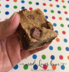 Healthy-ish Protein Packed Blondies