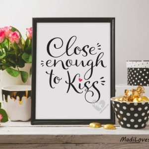 Close Enough to Kiss, Babywearing Art, Crunchy Mama, Nursery Decor, Babywearing Print, Baby Wearing, Crunchy Mom, Nursery Wall Art, 8x10""