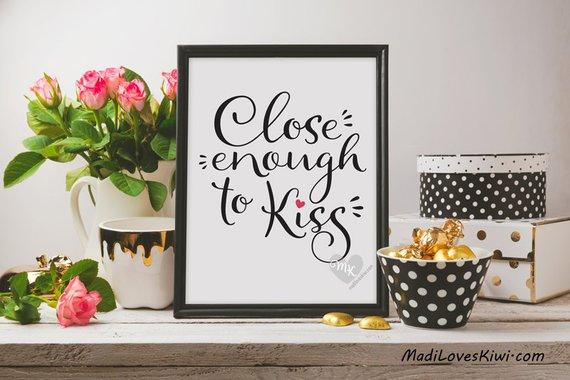 "Close Enough to Kiss, Babywearing Art, Crunchy Mama, Nursery Decor, Babywearing Print, Baby Wearing, Crunchy Mom, Nursery Wall Art, 8x10"""