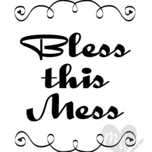 Bless This Mess Printable, Funny Dorm Room Decor, Digital Playroom Wall Art, Nursery Sign Instant Download, Humor Gift Idea Family Home Play