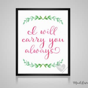 I Will Carry You Always, Babywearing Art, Crunchy Mama, Nursery Decor, Babywearing Print, Baby Wearing, Crunchy Mom, Nursery Wall Art, 8x10""