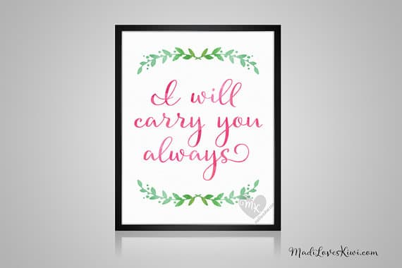 "I Will Carry You Always, Babywearing Art, Crunchy Mama, Nursery Decor, Babywearing Print, Baby Wearing, Crunchy Mom, Nursery Wall Art, 8x10"""