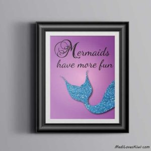 Mermaids Have More Fun, Under the Sea Nursery, Mermaid Nursery Decor, Beach Nursery, Mermaid Decor, Mermaid Art, Beach Baby, Sea Nursery