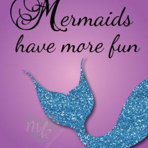 Mermaids Have More Fun, Under the Sea Nursery, Mermaid Nursery Decor, Beach Nursery, Mermaid Decor, Mermaid Art, Beach Baby, Sea Nursery