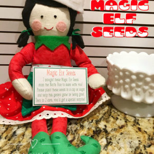 Magic Elf Seeds, Christmas Elf Printables, Elf Kisses, Elf Donut, Elf Props Printable, Elf Accessories, Elf Ideas, Elf Treats,Elf Activities