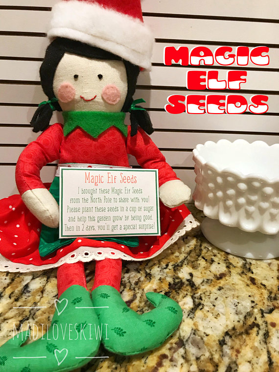 image about Elf Kisses Printable identified as Xmas Elf Sport Fastened Magic Elf Seeds, Donut Box, Elf