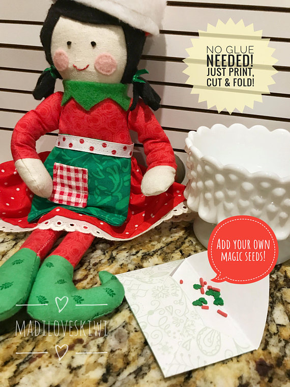 Magic Elf Seeds, Christmas Elf Printables, Elf Kisses, Elf Donut, Elf Props Printable, Elf Accessories, Elf Ideas, Elf Treats,Elf Activities