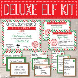 Personalized Elf Kit, Printable Elf Letters, Elf Report Card, Elf Notes, Elf Adoption Certificate, Elf Prop, Elf Accessories, Elf Activities