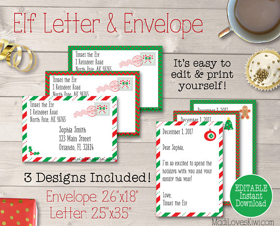 Personalized Elf Kit, Printable Elf Letters, Elf Report Card, Elf Notes, Elf Adoption Certificate, Elf Prop, Elf Accessories, Elf Activities
