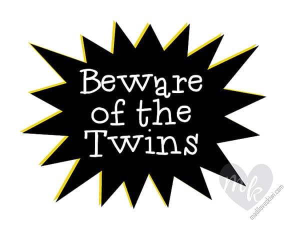 Twins Baby Gifts, Baby Twins, Baby Shower Gift, Twin Nursery Decor, Nursery Wall Art, Baby Twin Gifts, Twin Nursery, Twin Wall Art, Twin Art