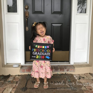 Last Day of School Sign Printable, Preschool Graduation Sign, Chalkboard for 2018 Graduate, Digital Preschool Photo Prop, End of School Year