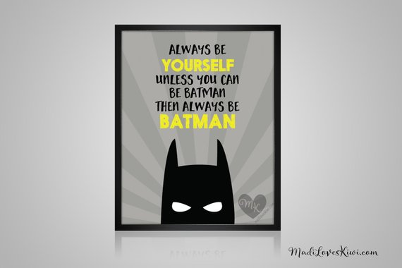 Batman Print, Superhero Decor, Batman Art, Comic Book Art, Batman Wall Art, Superhero Art, Comic Book Decor, Super Hero Art, Nursery Decor