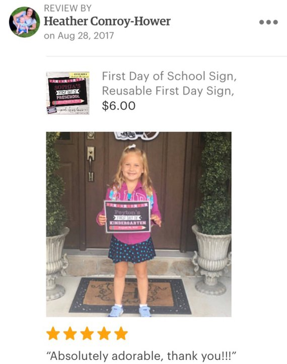 EDITABLE First Day of School Sign, Printable 1st Day Chalkboard Photo Prop, Pink Digital Last Day PDF Template, Digital End Year Back Girl