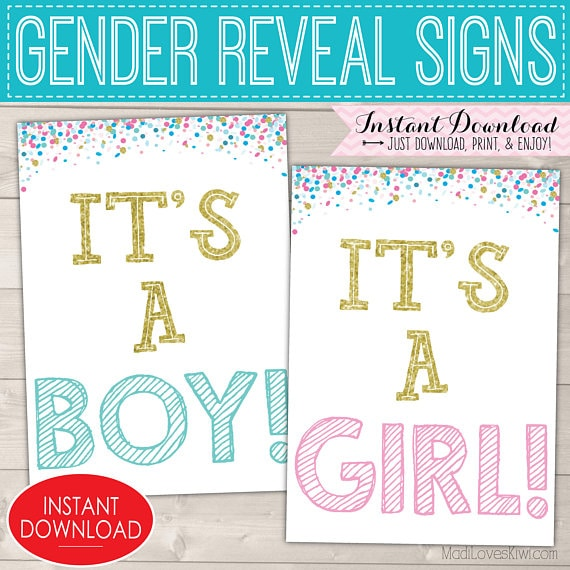 It's a Girl Sign, It's a Boy Sign, Gender Reveal Sign, Gender Reveal Ideas Gender Reveal Party Gender Reveal Signs Gender Reveal Decorations