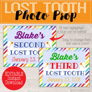 Rainbow Tooth Fairy Prop, First Lost Tooth Photo Prop, First Lost Tooth Sign, Digital Tooth Fairy, Girl Tooth Fairy, Lost First Tooth Sign