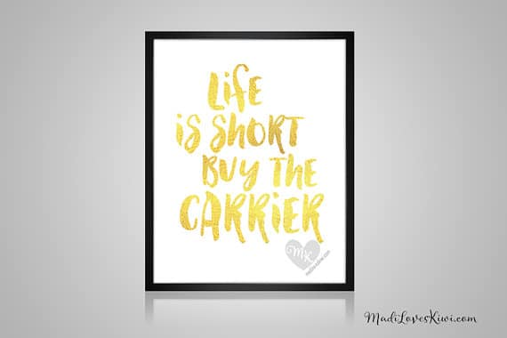 Life Is Short Buy The Carrier, Babywearing Art, Crunchy Mama, Nursery Decor, Babywearing Print, Baby Wearing, Crunchy Mom, Nursery Wall Art