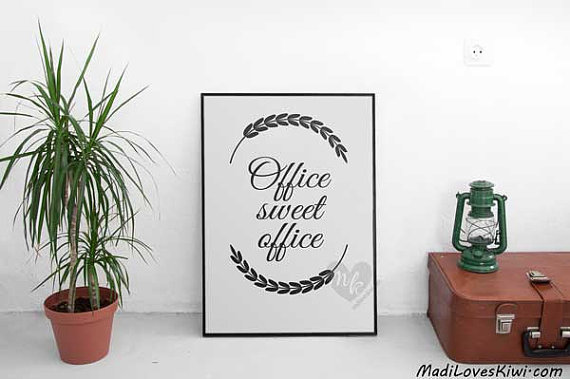 Office Sweet Office, Cubicle Decor, Office Decor, Office Wall Art, Home Office Decor, Cubicle Art, Office Print, Office Art, Office Quotes