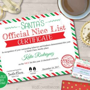 Personalized Nice List Certificate and Letter, Customized Santa's Nice List, Nice List Printable, Personalized Santa's List, North Pole Mail
