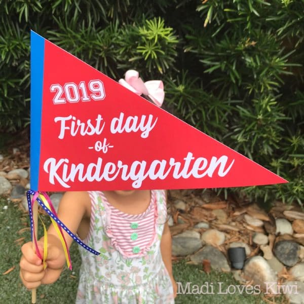 Editable First Day of School Pennant Printable