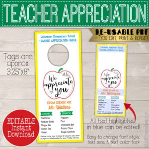 teacher room service door tag
