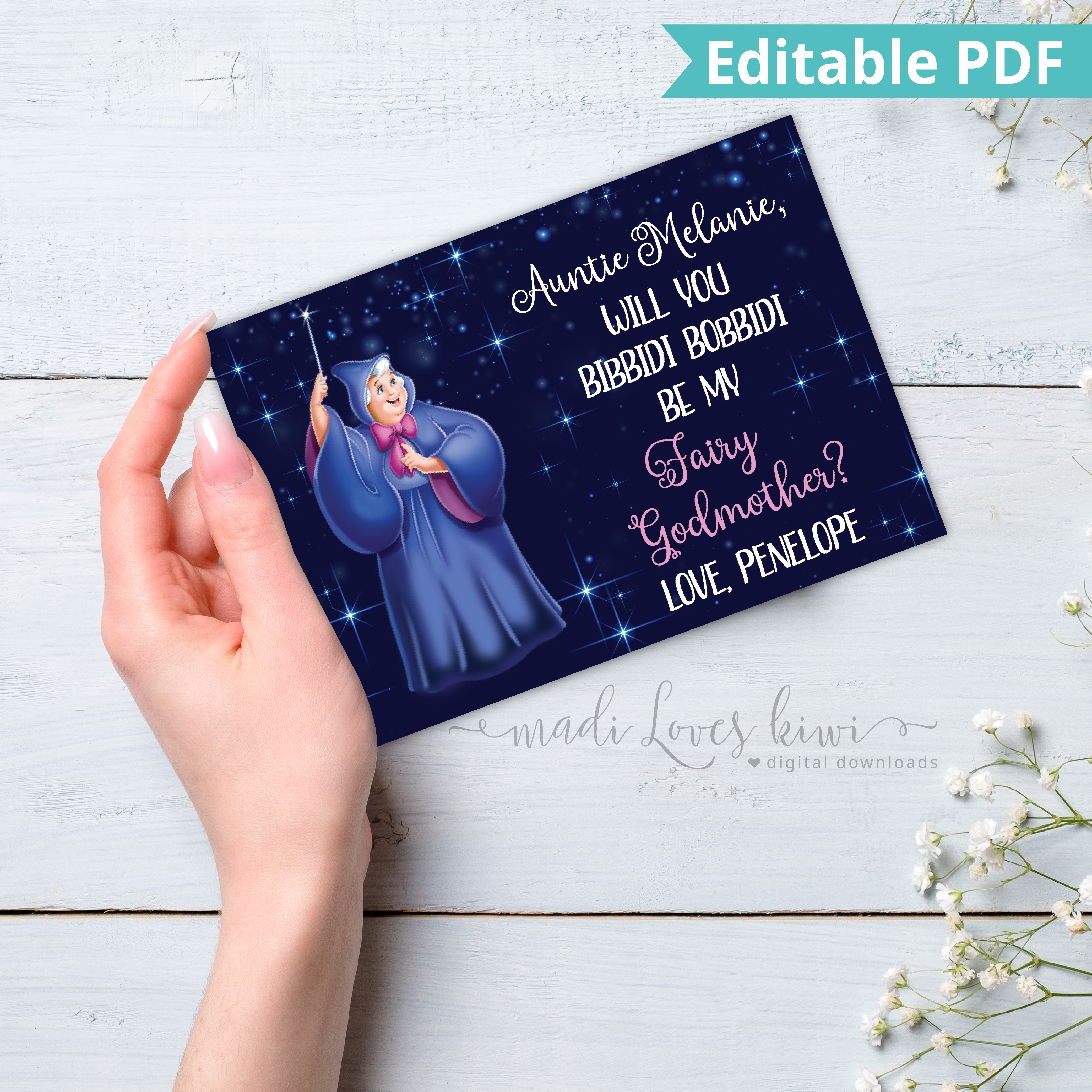 Personalized Fairy God Mother Card