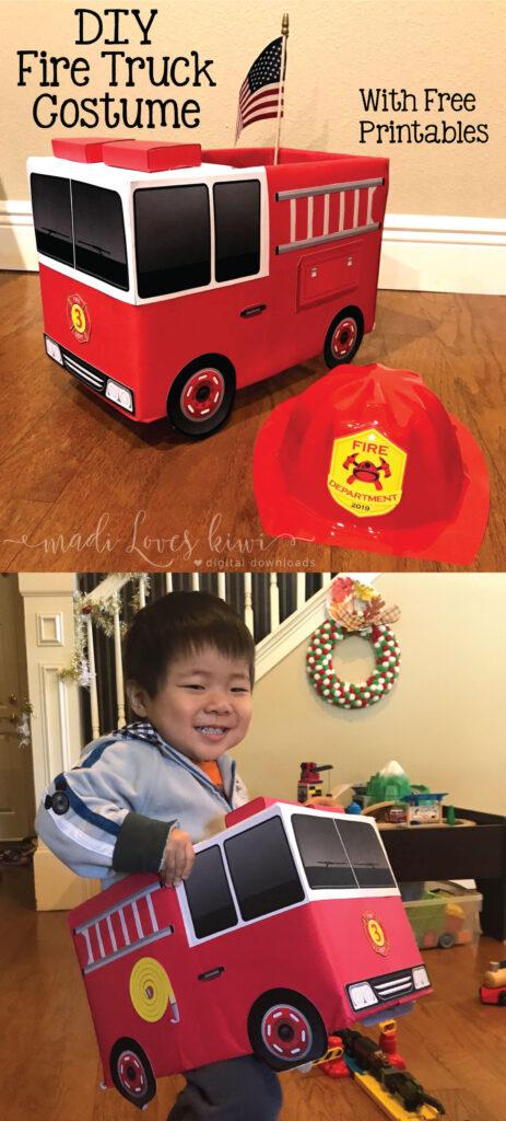 DIY Fire Truck Costume Tutorial